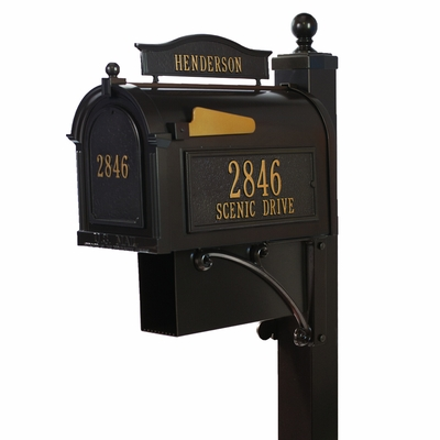 Whitehall Deluxe Mailbox and Post French Bronze