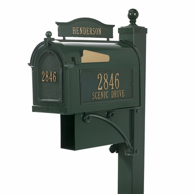 Whitehall Mailbox and Deluxe Post Green