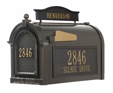 Whitehall Mailbox and Standard Post French Bronze