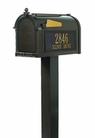 Whitehall Mailbox and Standard Post with Options