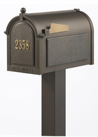 Whitehall Premium Mailbox Package with Door Address Plaque