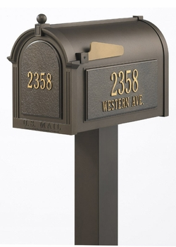 Whitehall Premium Mailbox Package with Front and Side Address Plaques