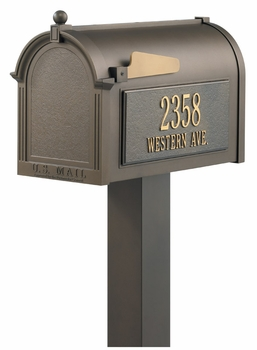 Whitehall Premium Mailbox Package with Side Address Plaques