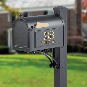 Whitehall Superior Mailbox Package Black