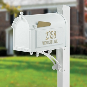 Whitehall Superior Mailbox Package White