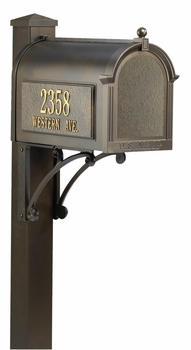 Whitehall Superior Mailbox Package with Side Address Plaques