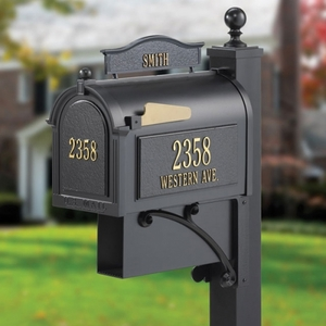 Whitehall Ultimate Mailbox Black