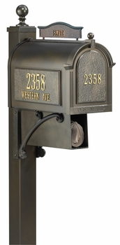 Whitehall Ultimate Mailbox Package Complete with All Options
