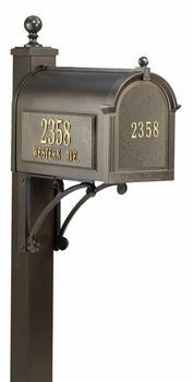 Whitehall Ultimate Mailbox Package with Front and Side Address Plaques