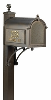 Whitehall Ultimate Mailbox Package with Side Address Plaques