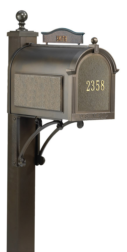 Whitehall Ultimate Mailbox Package With Topper And Front