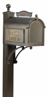 Whitehall Ultimate Mailbox Package with Topper and Side Address Plaques