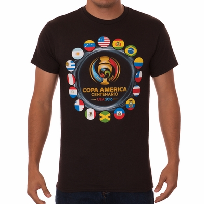 Fifth Sun 2016 Copa America Rings Tee - Black - Click to enlarge