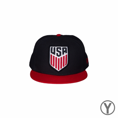 Kids New Era U.S. Soccer 9FIFTY Logo Grand Fitted - Navy/Red - Click to enlarge