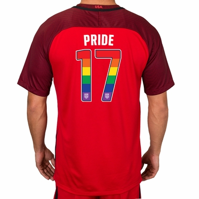 Men's Limited Edition 2017/2018 LGBTQ Pride Stadium Red Jersey - Click to enlarge