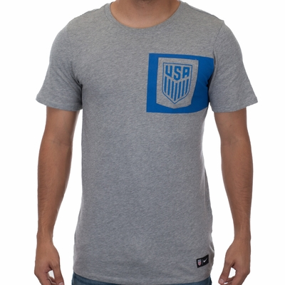 Men's Nike USA 2017 Crest Tee - Dark Grey Heather - Click to enlarge