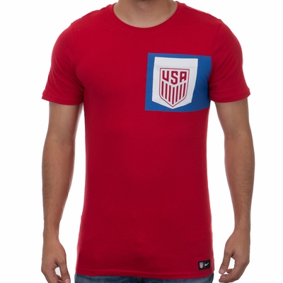 Men's Nike USA 2017 Crest Tee - Gym Red - Click to enlarge