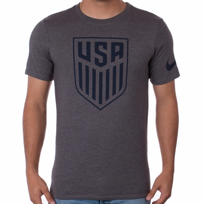 Men's Nike USA Crest Tee - Charcoal Heather - Click to enlarge