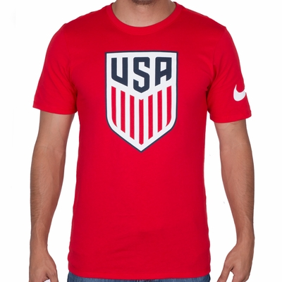Men's Nike USA Crest Tee - University Red - Click to enlarge