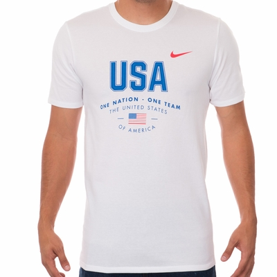 Men's Nike USA Verbiage Tee - White - Click to enlarge