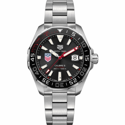 TAG Heuer Aquaracer 43mm Automatic - Team USA Special Edition - WAY201G.BA0927 - Click to enlarge