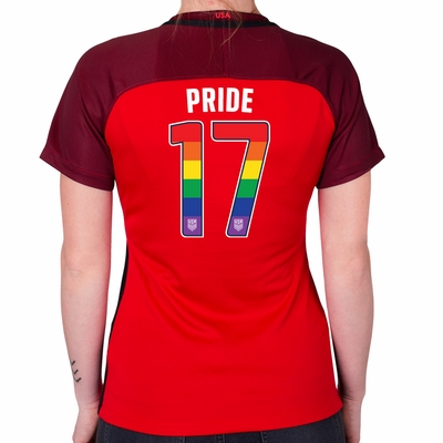 Women's Limited Edition 2017/2018 LGBTQ Pride Stadium Red Jersey - Click to enlarge