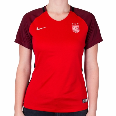 Women's Nike USA 2017/2018 Stadium Red Jersey - Click to enlarge