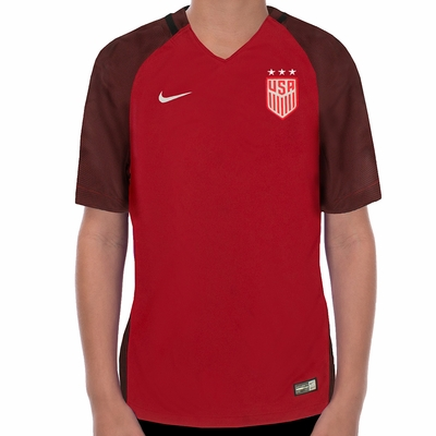 Youth Nike USA 2017/2018 3-Star Red Jersey - Click to enlarge