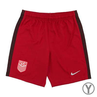 Youth Nike USA 2017/2018 Stadium Red Shorts - Click to enlarge