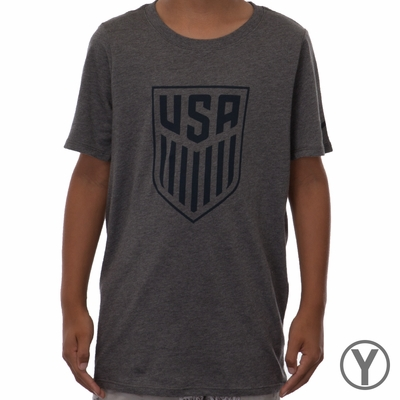 Youth Nike USA Crest Tee - Charcoal Heather - Click to enlarge