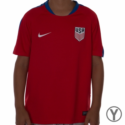 Youth Nike USA Flash SS Training Top - University Red - Click to enlarge