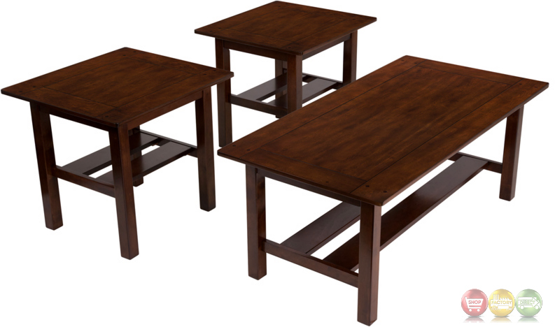 Signature Design By Ashley Lewis 3 Piece Occasional Table Set