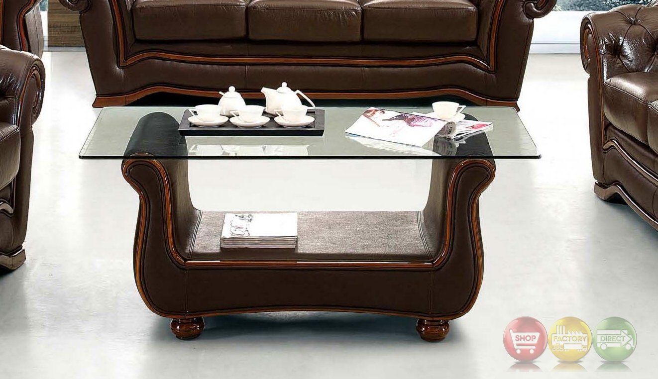 Brown leather coffee table leather coffee table with glass top Coffee table with leather top