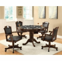 3-in-1 Dining Bumper Pool Card Table & Chairs