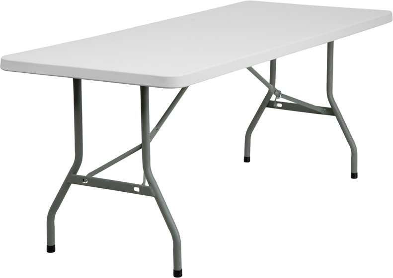 30 w x 72 l granite white plastic folding table. Black Bedroom Furniture Sets. Home Design Ideas
