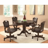 5 Piece Casual 3-in-1 Recreational Game Room Table Set