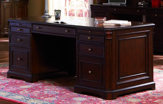 Home Office Sets Painted Office 5 Piece: Traditional Executive Desk