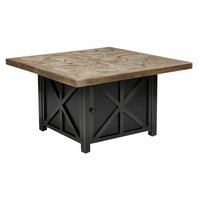 Arch Salvage Outdoor Patio Quentin Gas Firepit in Branch