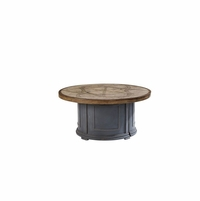 Morrissey Outdoor Patio Terrafab Sutter Firepit Table in Charcoal