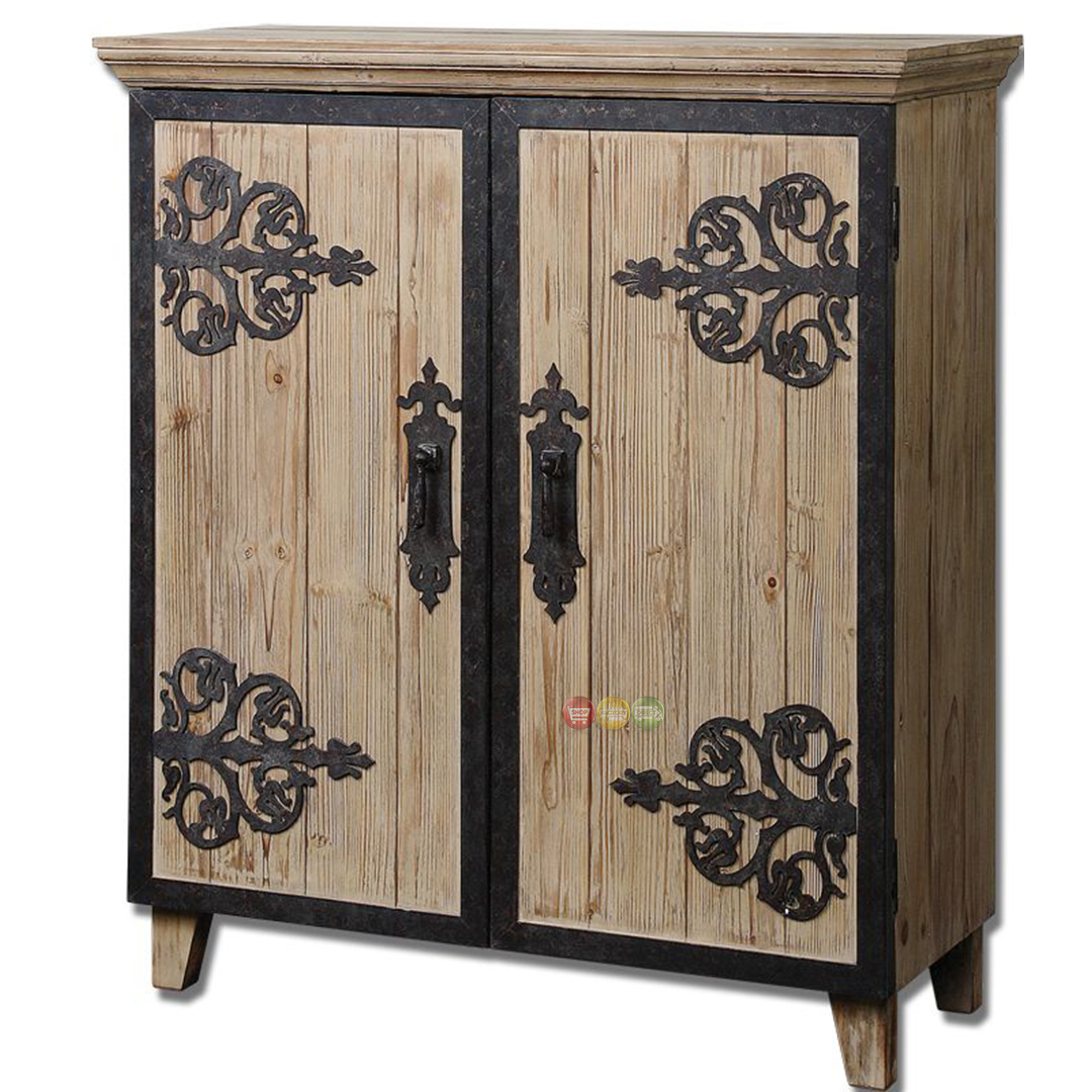 Abelardo country rustic console cabinet