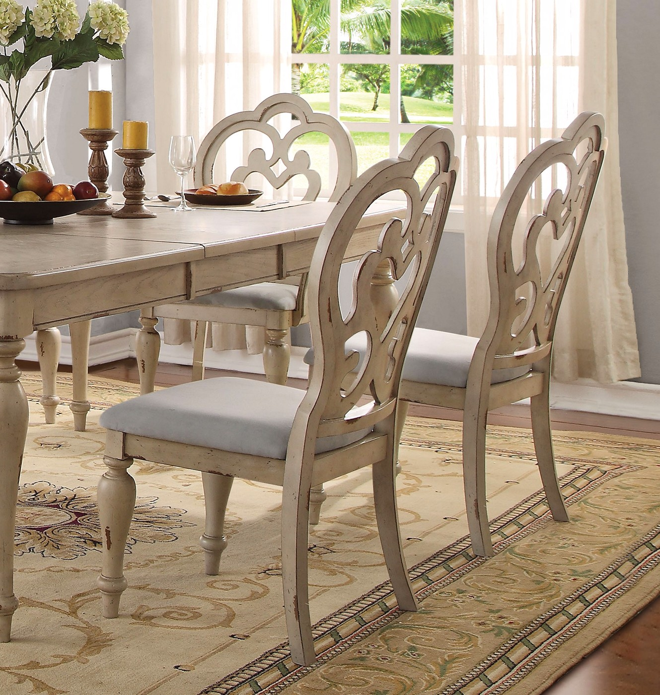 "French Dining Room Table: Absolon French Country Dining Room Set 66""-86"" Table"