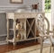 Absolon French Country Server with Wine Rack in Antique White Finish