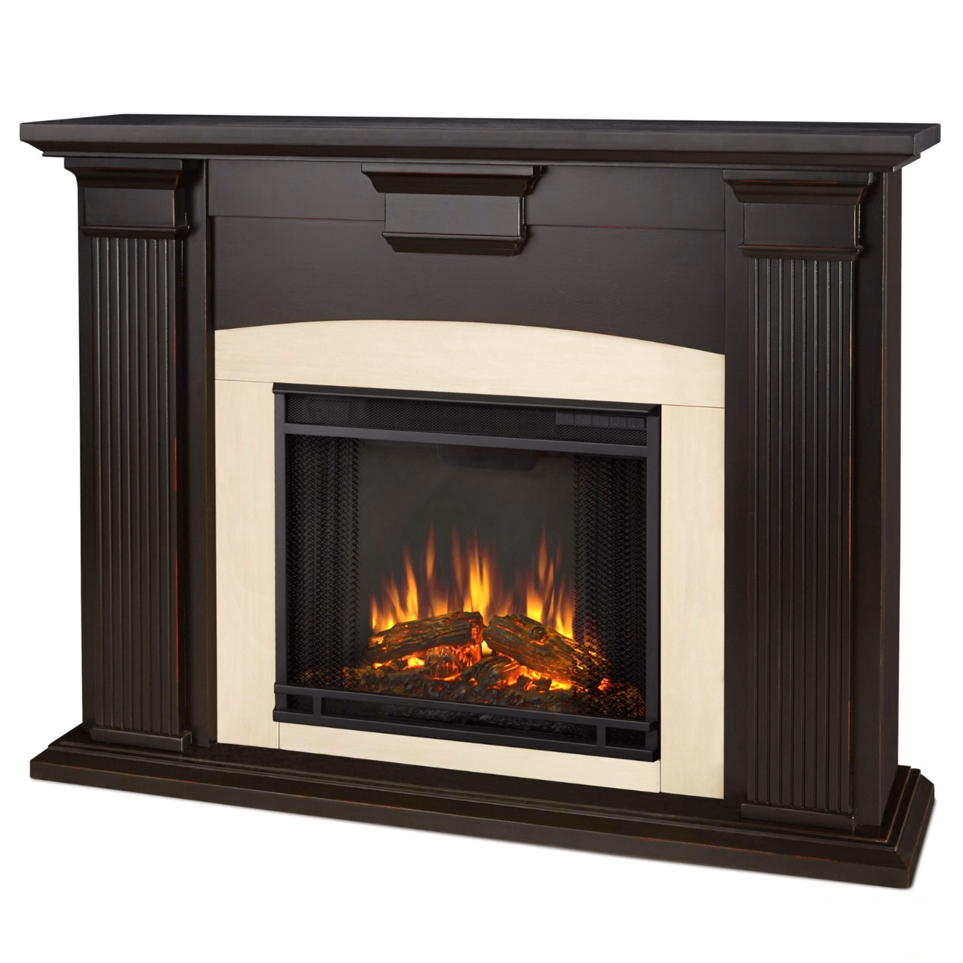 Adelaide Electric Led Heater Fireplace In Antique Black