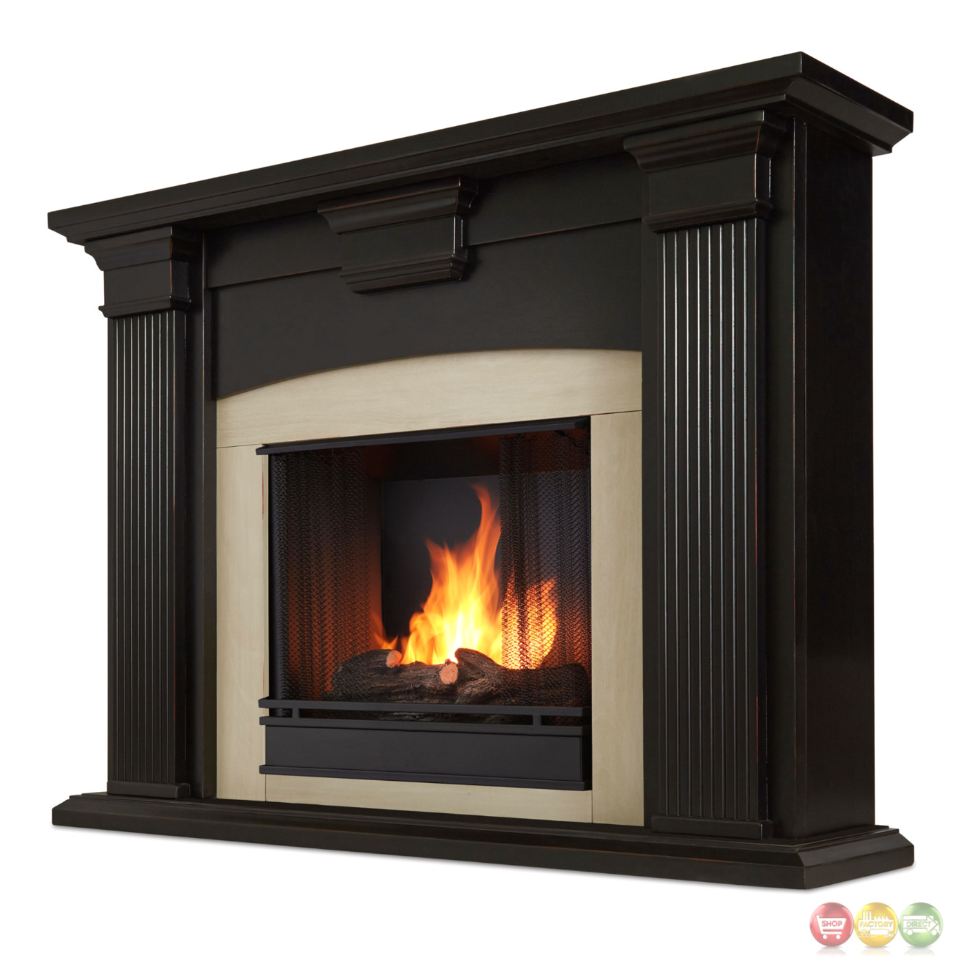 Adelaide Ventless Gel Fireplace In Antique Blackwash With