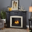 Adelaide Ventless Gel Fireplace In Antique Blackwash With Logs, 51x39