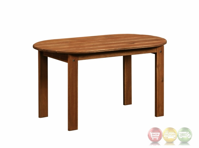 adirondack outdoor teak coffee table with solid wood construction. Black Bedroom Furniture Sets. Home Design Ideas