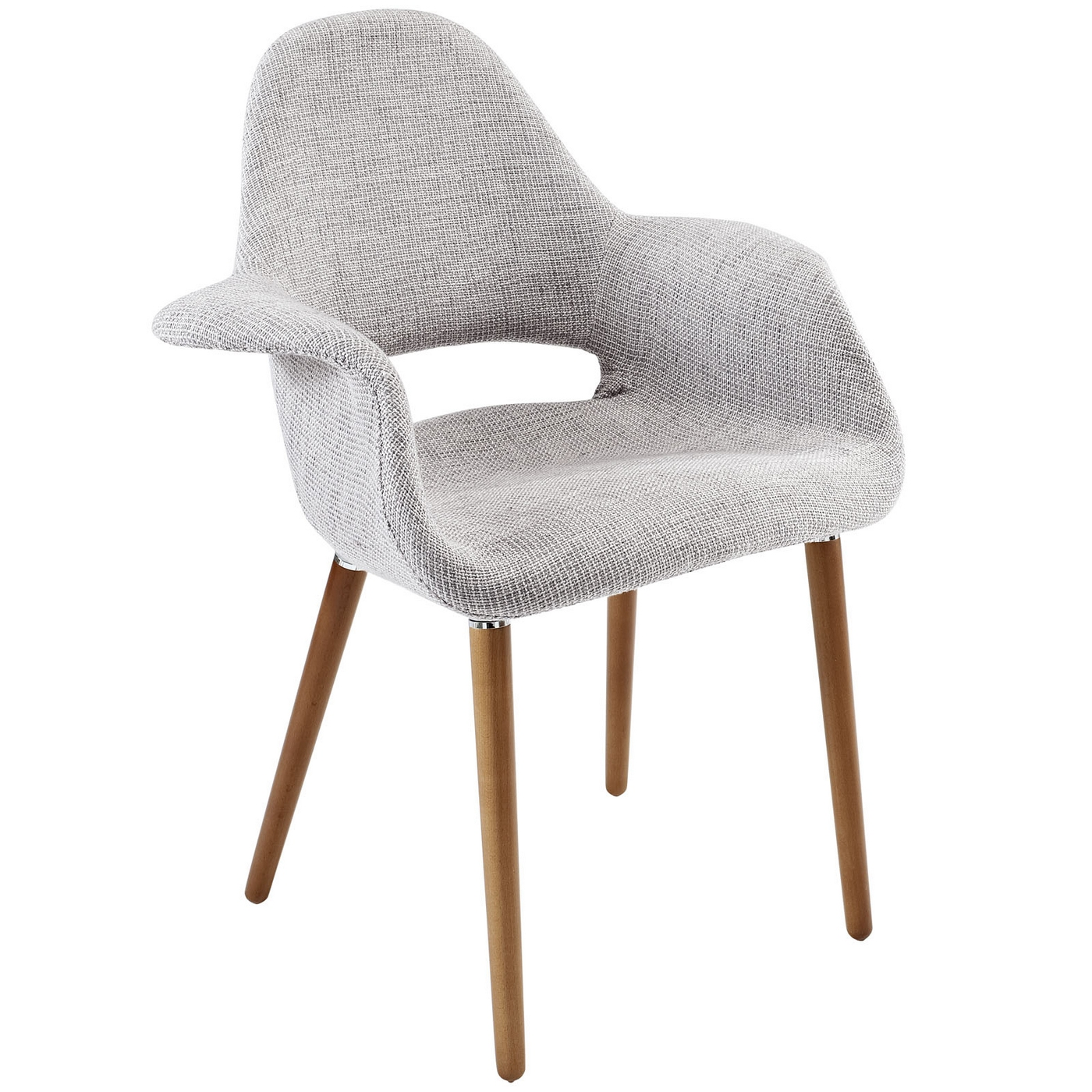 Aegis mid century modern upholstered dining armchair w