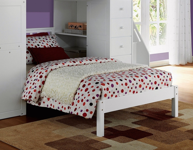 Agneta Kids Casual Youth Mission Panel Twin Bed in White Finish