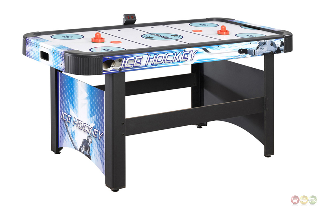 Air hockey carmelli ng1009h face off 5 foot game table w for Table hockey