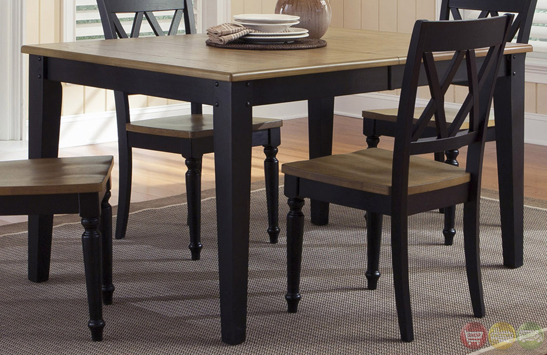 Al fresco two tone finish casual dining furniture set for Informal dining chairs